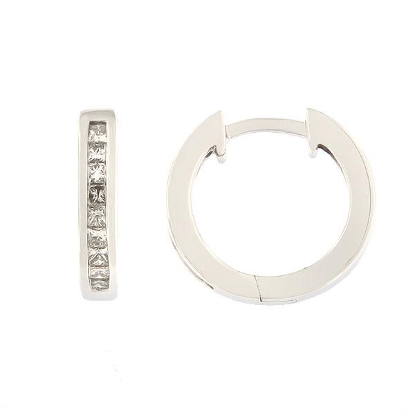 Kullast kõrvarõngad teemantidega 0,30 ct. Kood: 24ag