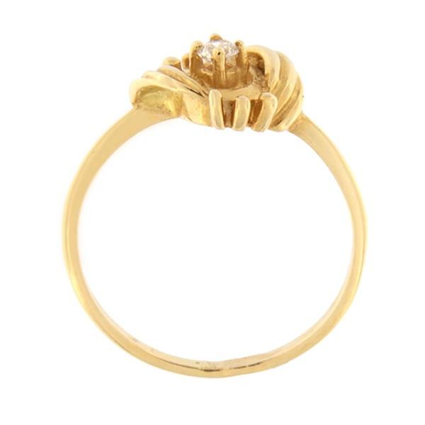 Kullast sõrmus tsirkooniga Kood: 262p-1