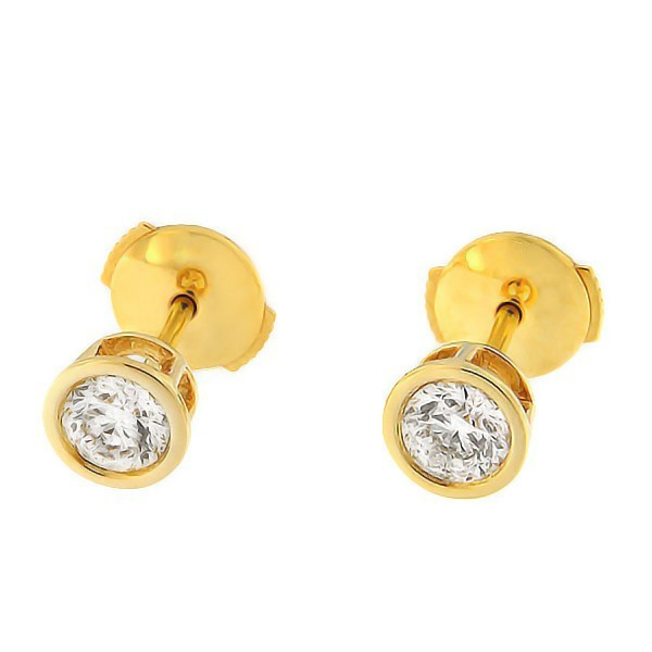 Gold earrings with diamonds 0,60 ct. Code: 30an