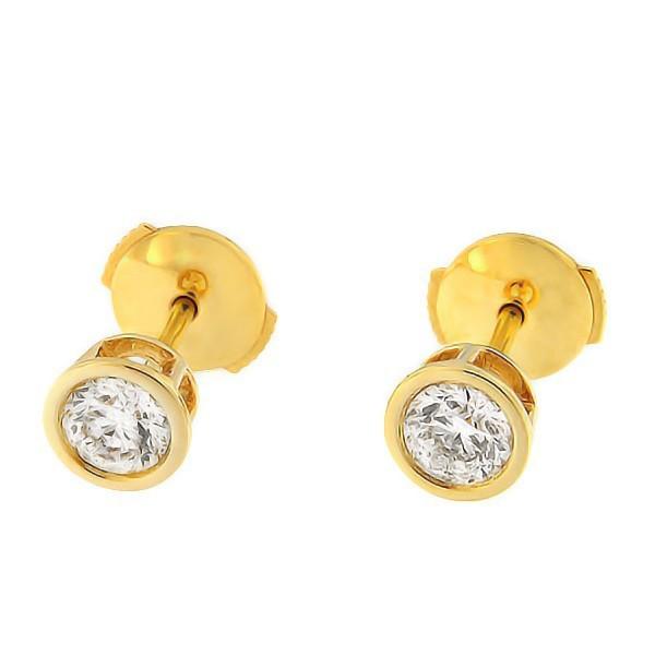 Золотые серьги с бриллиантами 0,60 ct. Kод: 30an