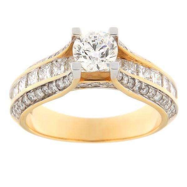 Kullast sõrmus teemantidega 2,03 ct. Kood: 310ad