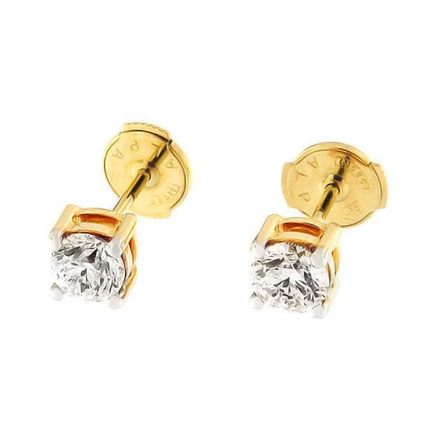 Kullast kõrvarõngad teemandiga 1,01 ct. Kood: 35af