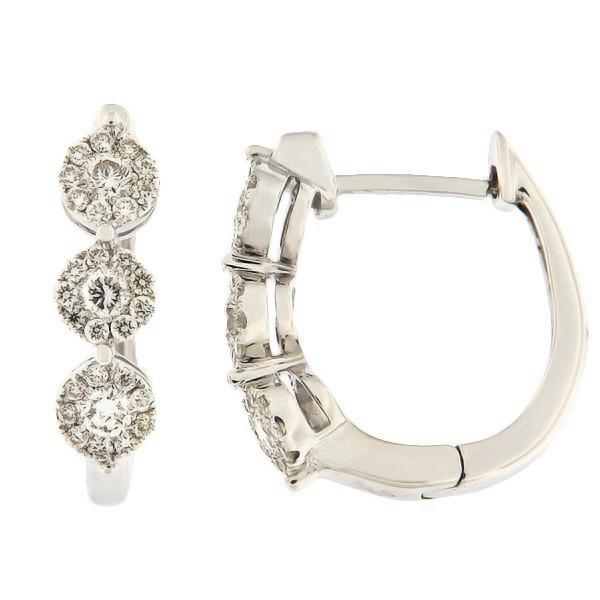 Kullast kõrvarõngad teemantidega 0,50 ct. Kood: 36ha