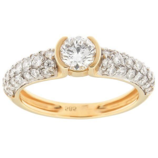 Kullast sõrmus teemantidega 0,94 ct. Kood: 39aa