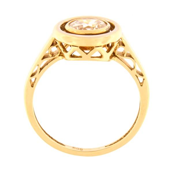 Kullast sõrmus tsirkooniga Kood: 455wp489-1