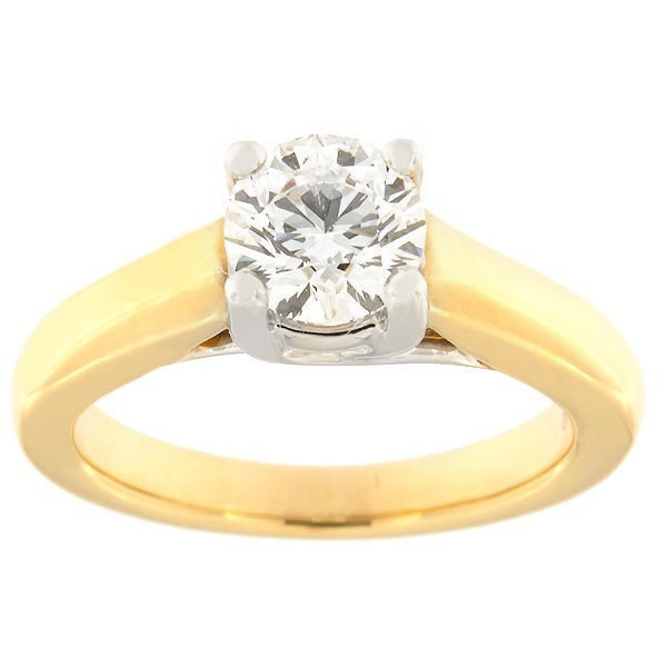 Gold ring with diamonds 1,00 ct. Code: 47aa