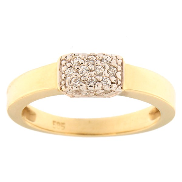 Gold ring with zircons Code: 484epp531