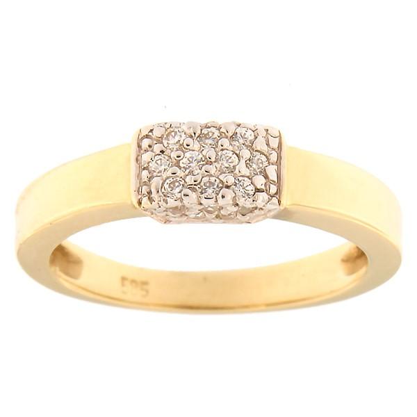 Gold ring with zircons Code: 484epp531