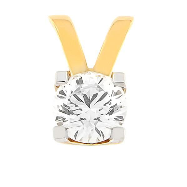 Kullast ripats teemantidega 0,70 ct. Kood: 50af