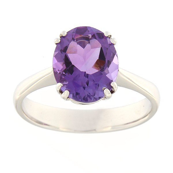 Gold ring with amethyst Code: 51b