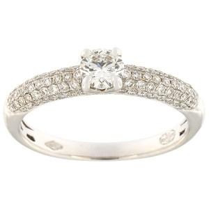 Kullast sõrmus teemantidega 0,70 ct. Kood: 531895