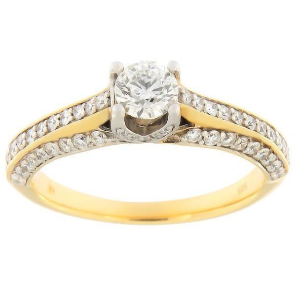 Kullast sõrmus teemantidega 0,87 ct. Kood: 54ae