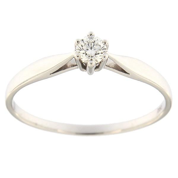 Kullast sõrmus teemantidega 0,19 ct. Kood: 54af