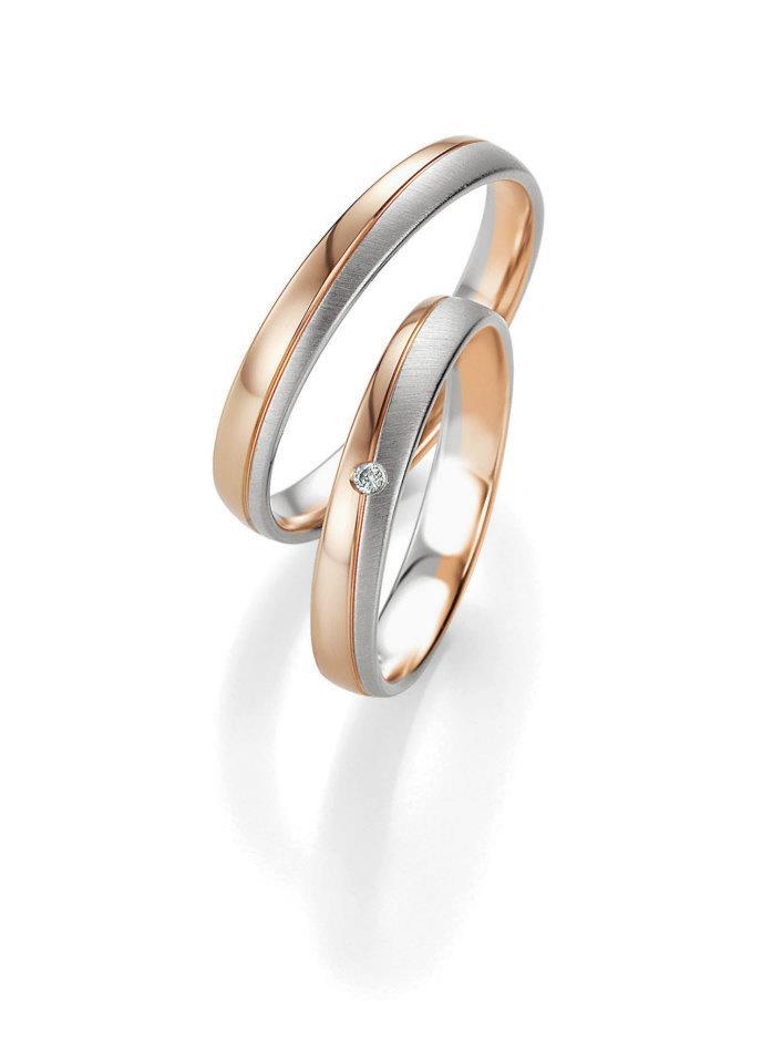 Breuning abielusõrmused - Valge ja punane kuld - MATIGOLD
