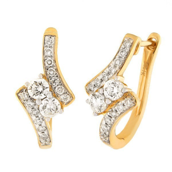 Gold earrings with diamonds 1,20 ct. Code: 56hb