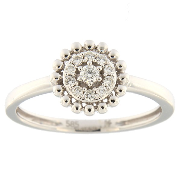 Gold ring with diamonds 0,13 ct. Code: 58hk
