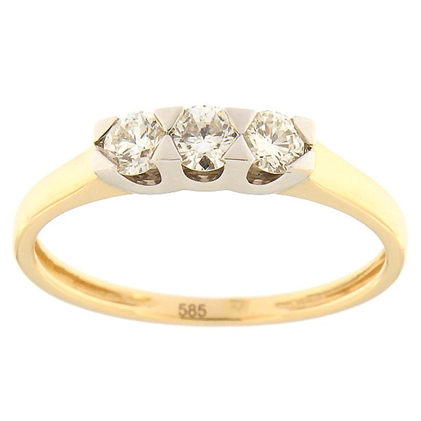 Gold ring with diamonds 0,32 ct. Code: 59ae