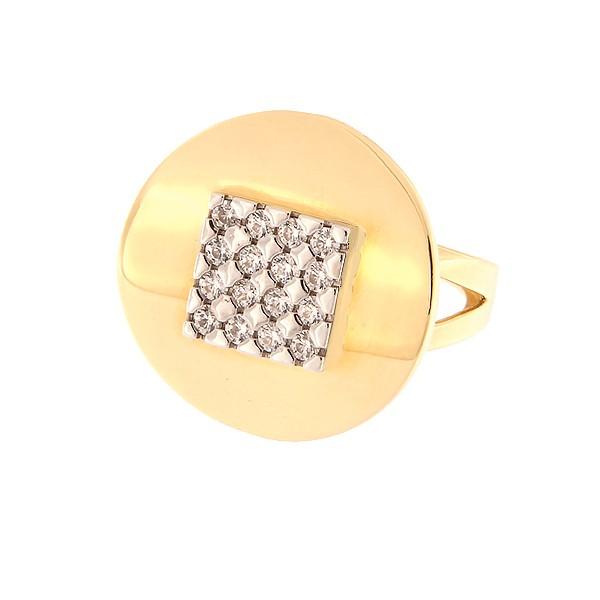 Kullast sõrmus tsirkoonidega Kood: 59wp950