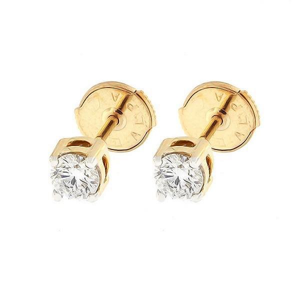 Kullast kõrvarõngad teemantidega 0,52 ct. Kood: 5ak