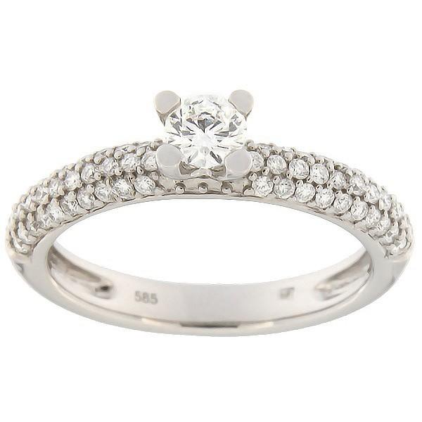 Золотое кольцо с бриллиантами 0,54 ct. Kод: 60ae