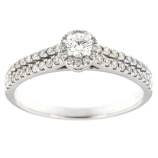Kullast sõrmus teemantidega 0,50 ct. Kood: 6ha