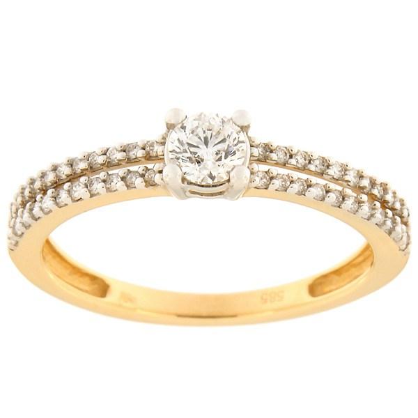 Kullast sõrmus teemantidega 0,40 ct. Kood: 71ab