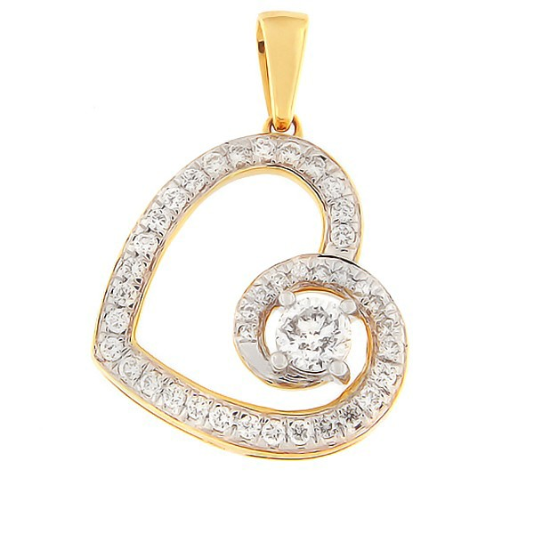 Kullast ripats teemantidega 0,50 ct. Kood: 73ha