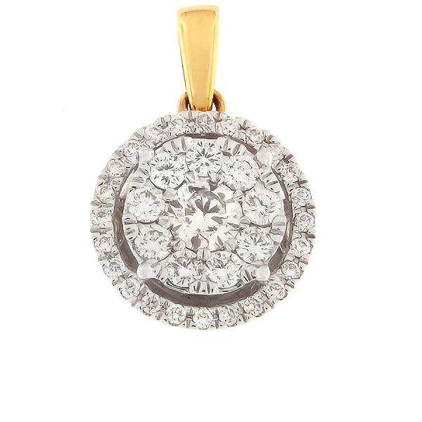 Kullast ripats teemantidega 0,50 ct. Kood: 74HB