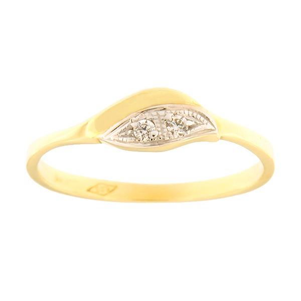 Kullast sõrmus tsirkoonidega Kood: 77pe