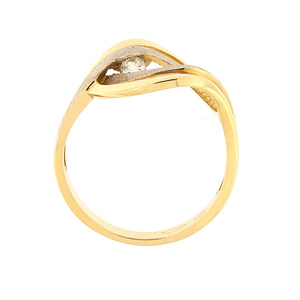 Kullast sõrmus tsirkooniga Kood: 77pt-1
