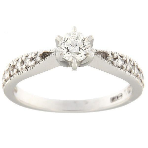 17fc9608c66 Kullast sõrmus teemantidega 0,53 ct. Kood: 7bb - MATIGOLD - Mati ...