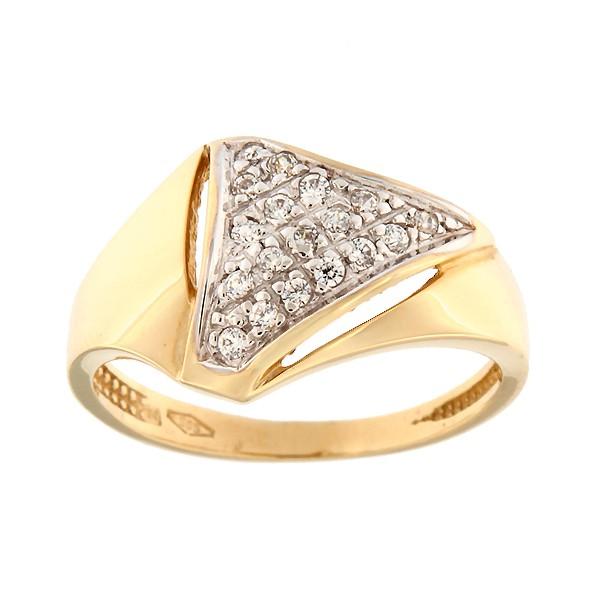 Kullast sõrmus tsirkoonidega Kood: 7pa