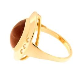 caee110c2ab ... Kullast sõrmus päikesekivi ja tsirkoonidega Kood: 809wp224-1