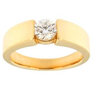 Kullast sõrmus teemantidega 0,50 ct. Kood: 81ax