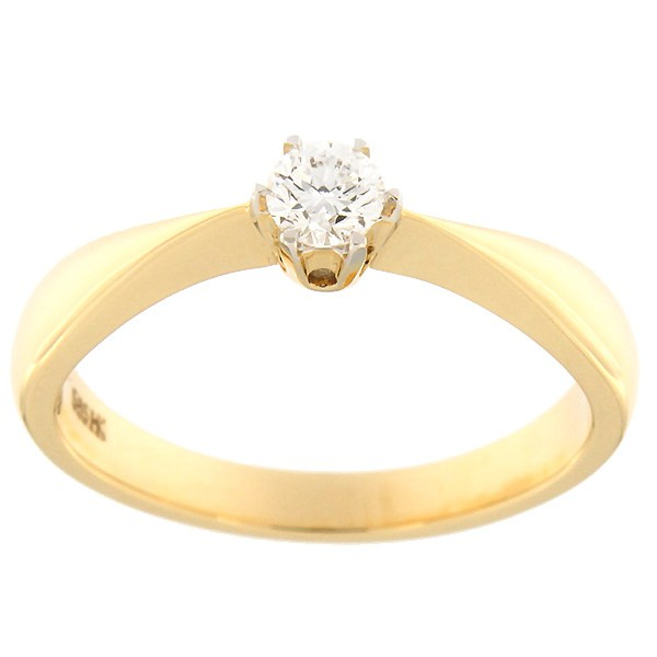 Gold ring with diamond 0,20 ct. Code: 84hb