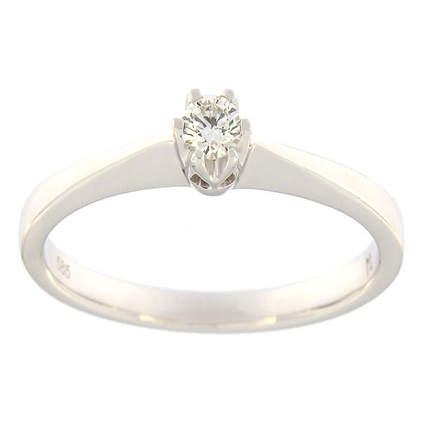 Kullast sõrmus teemantiga 0,10 ct. Kood: 91ak