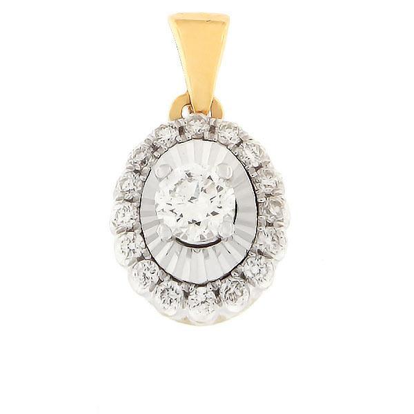 Kullast ripats teemantidega 0,25 ct. Kood: 92HB