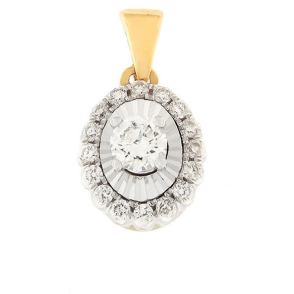 Gold pendant with diamonds 0,25 ct. Code: 92hb