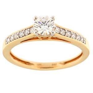 Kullast sõrmus teemantidega 0,54 ct. Kood: 94an