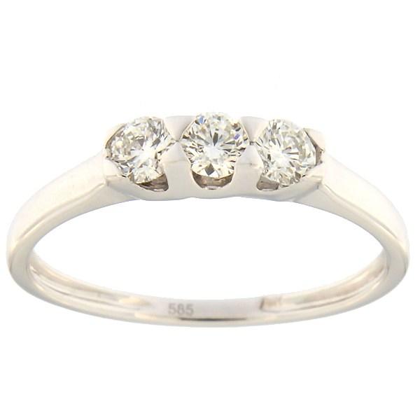Kullast sõrmus teemantidega 0,33 ct. Kood: 96an