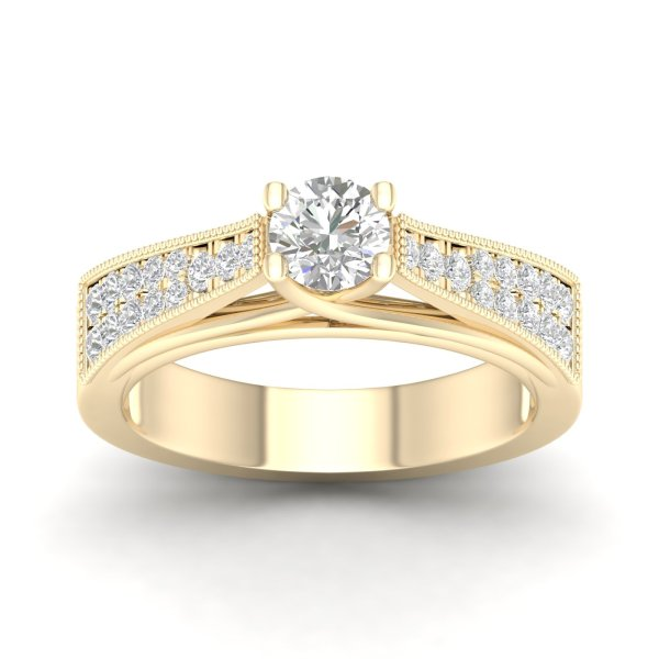 Gold ring with diamonds 0,55 ct. Code: 27hb