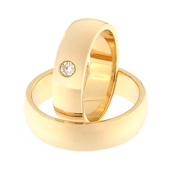 Gold wedding ring with diamond Code: rn0116-6-1k