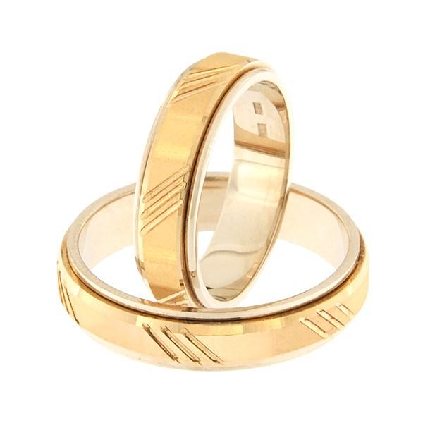 Золотое обручальное кольцо Kод: rn0138-5d-pk-av