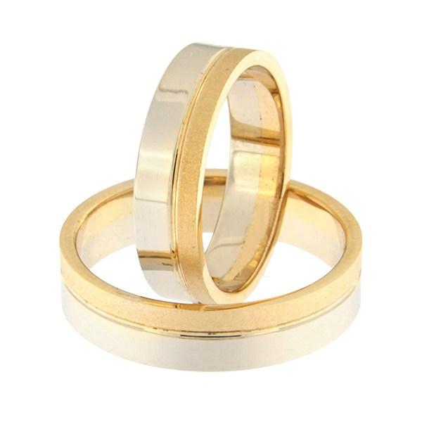 Золотое обручальное кольцо Kод: rn0152-5-1/3km2-2/3vl