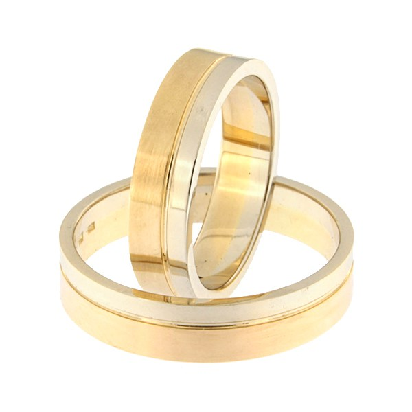Gold wedding ring Code: rn0152-5-1/3vl-2/3km1