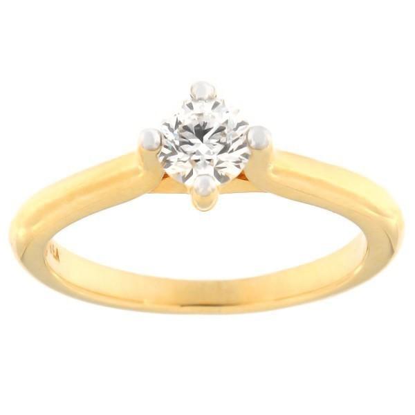 Kullast sõrmus teemantiga 0,50 ct. Kood: c7825unik