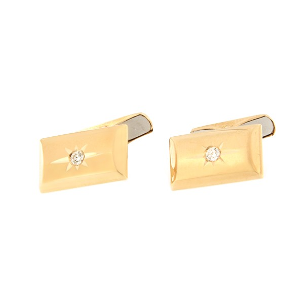 Gold cufflinks with diamonds Code: cl0110