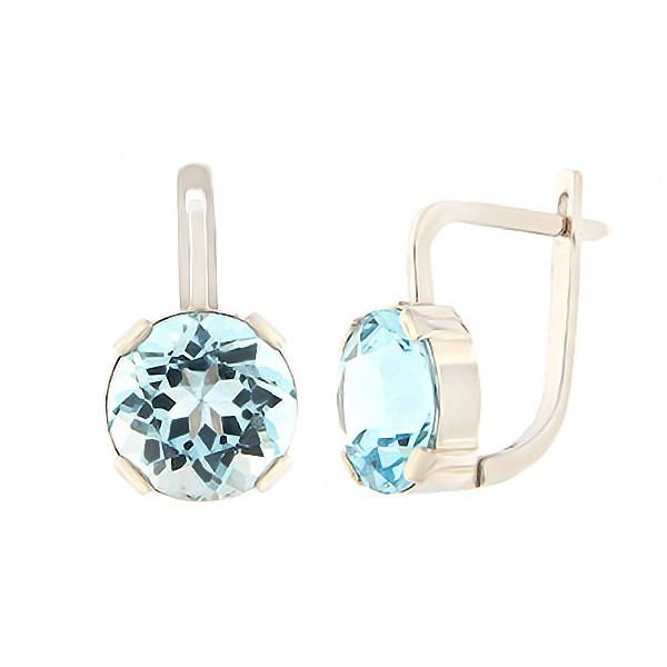 Gold earrings with topaz Code: er0136-v-topaas