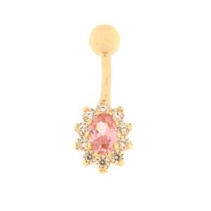 Kullast nabarõngas tsirkooniga Kood: pn0146-roosa