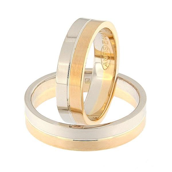 Kullast abielusõrmus Kood: rn0108-5-1/2vl-1/2km1